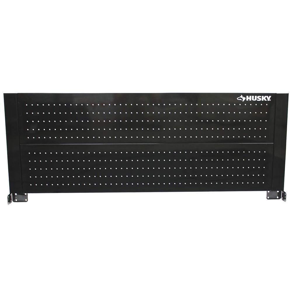Husky 52 in. Pegboard Back Wall for Tool Cabinet, Black