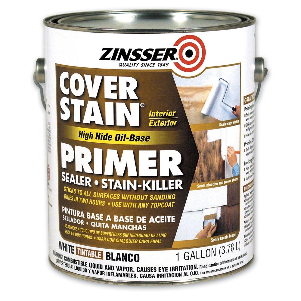 Zinsser 1 gal. White Flat Cover Stain Primer (Case of 4)-3551