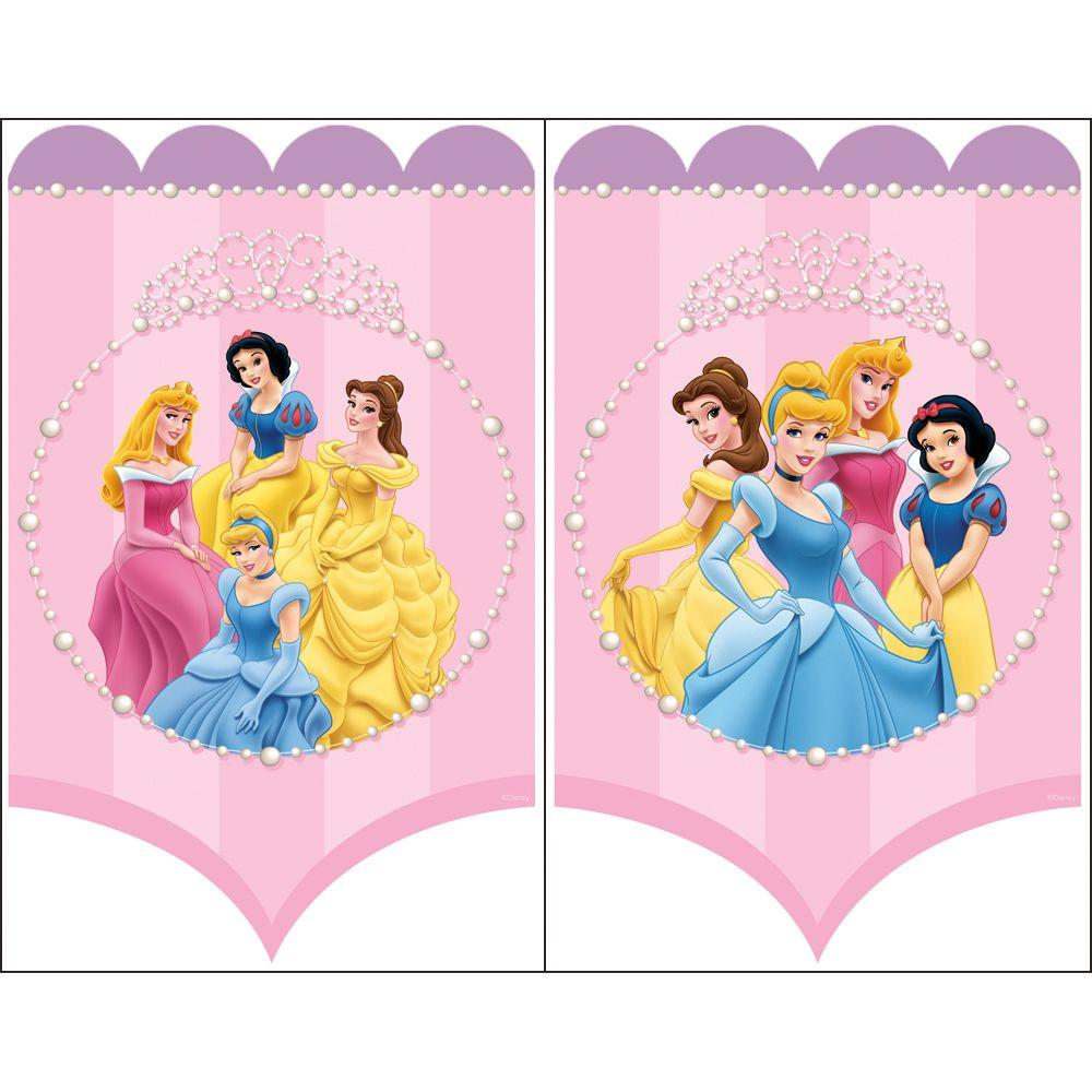 Disney 11.5 in. x 18 in. Pink and Purple Princess Wall Art (2-Piece)-DISCONTINUED