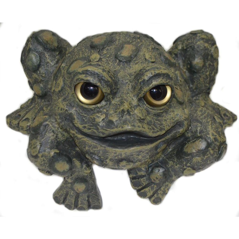 Toad Hollow Shelf-Sitter Statue, Large-98555 - The Home Depot