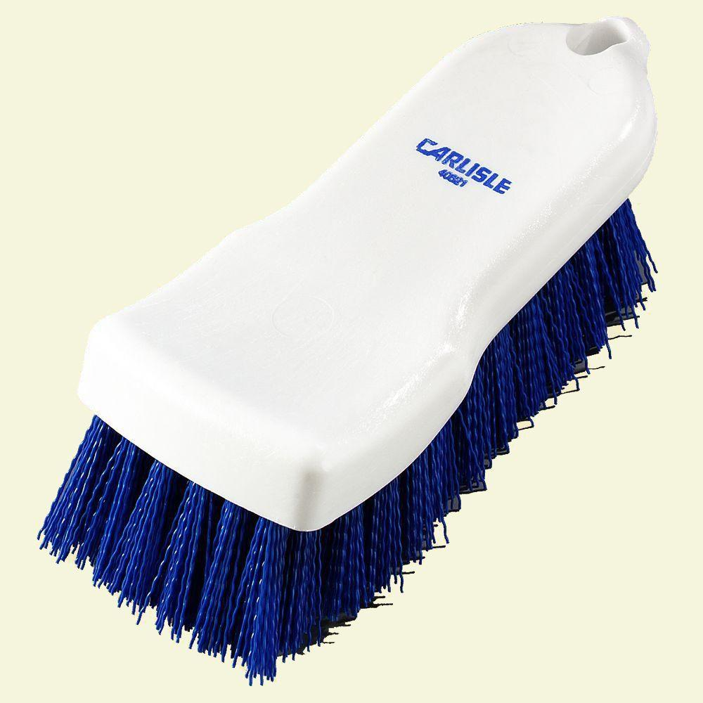 Carlisle 6 in. Compact Blue Hand Scrub Brush (Case of 12)-4052114