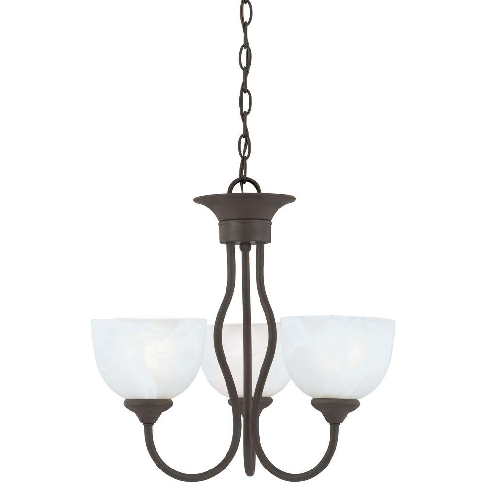 Thomas Lighting Tahoe 3-Light Painted Bronze Chandelier-SL801463 - The Home