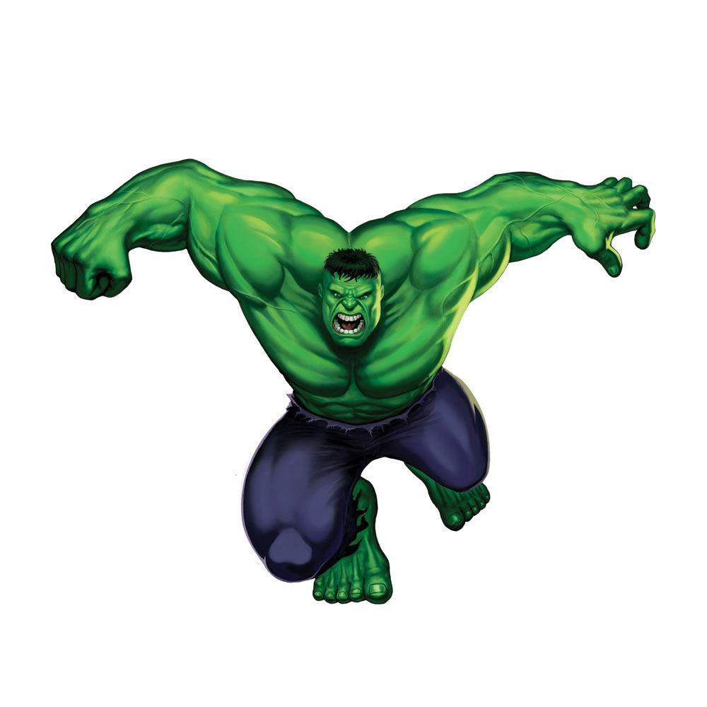 RoomMates 5 in. x 19 in. Hulk Peel and Stick Giant Wall Decals (8-Piece)