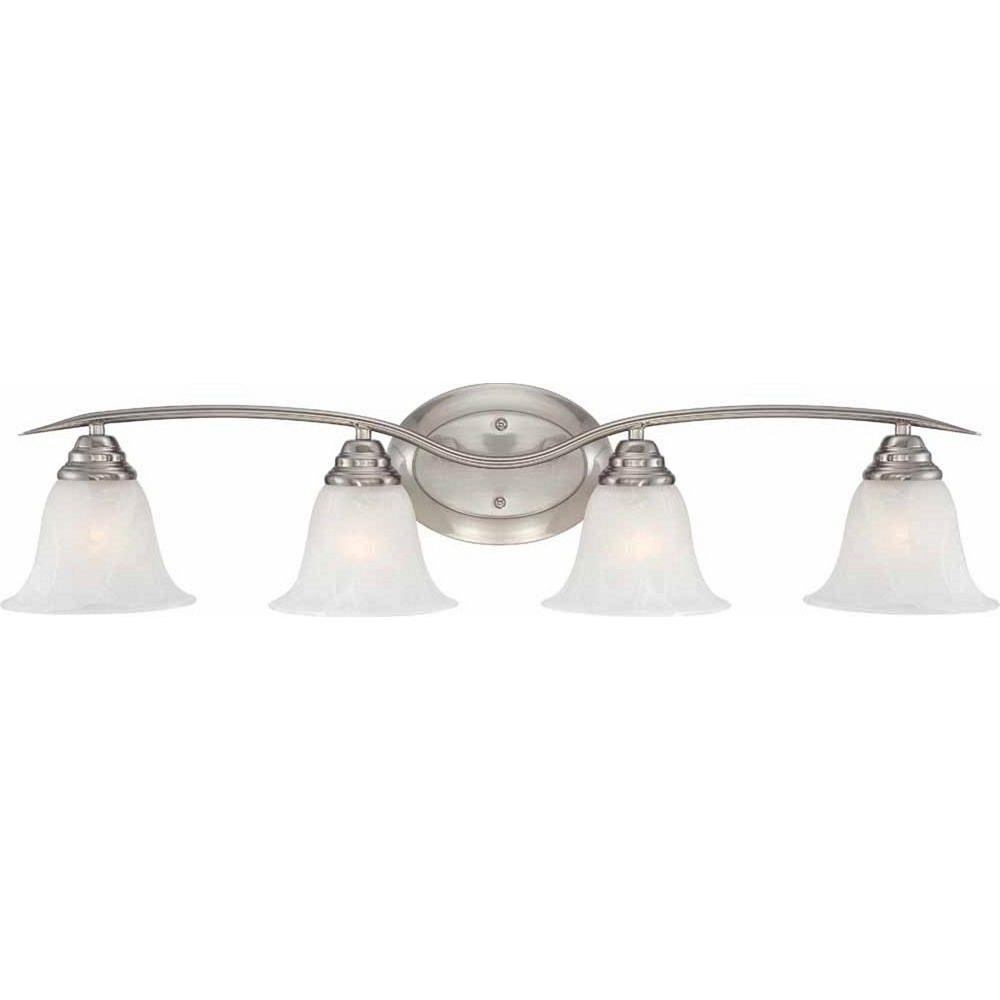 Volume Lighting Trinidad 4-Light Brushed Nickel Bath Vanity Light-V5234-33 - The