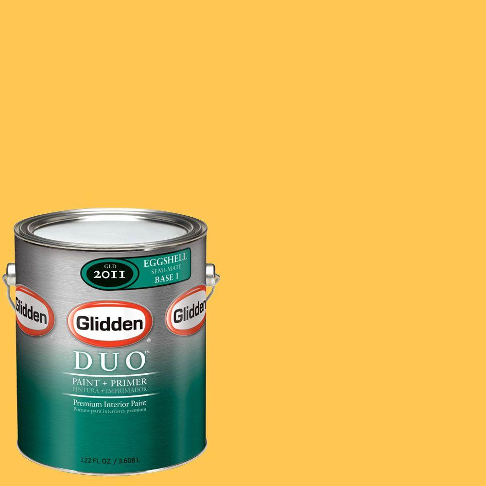 Glidden DUO 1-gal. #GLY01-01E Sunflower Eggshell Interior Paint with Primer