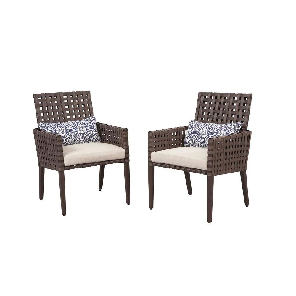 Hampton Bay Raynham Patio Dining Chairs Set of 2 DY D The Home Depot