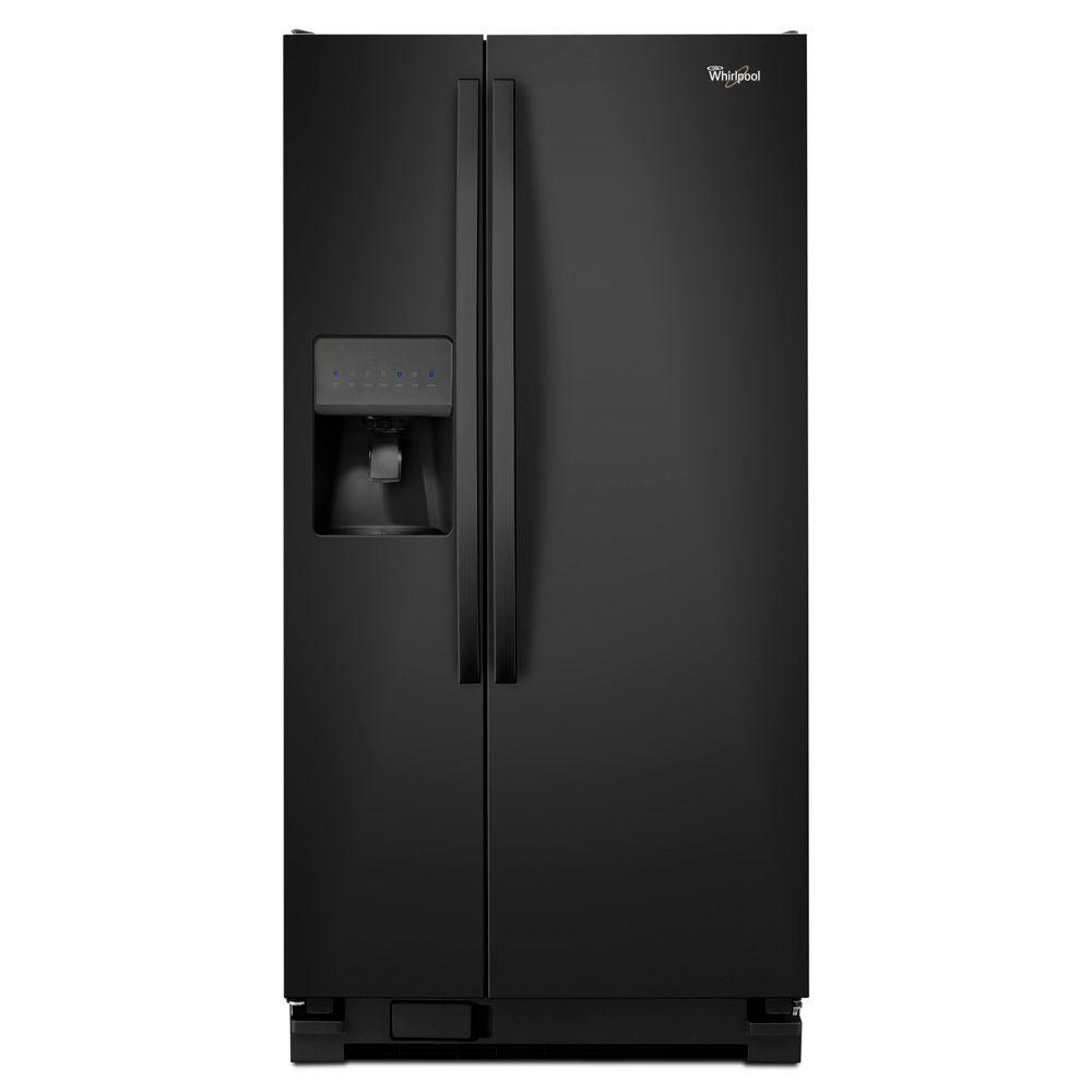 Whirlpool 33 in. W 21.2 cu. ft. Side by Side Refrigerator in Black