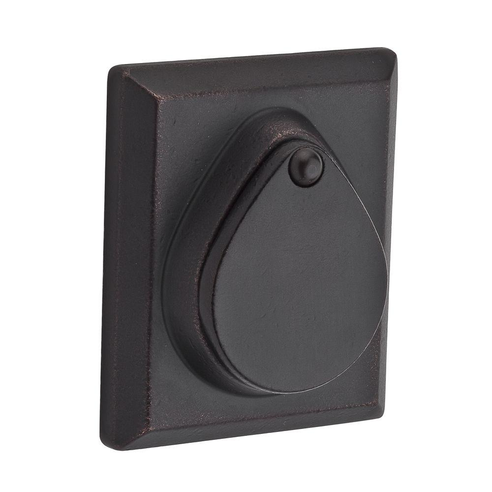 Reserve Rustic Double Cylinder Dark Bronze Square Deadbolt