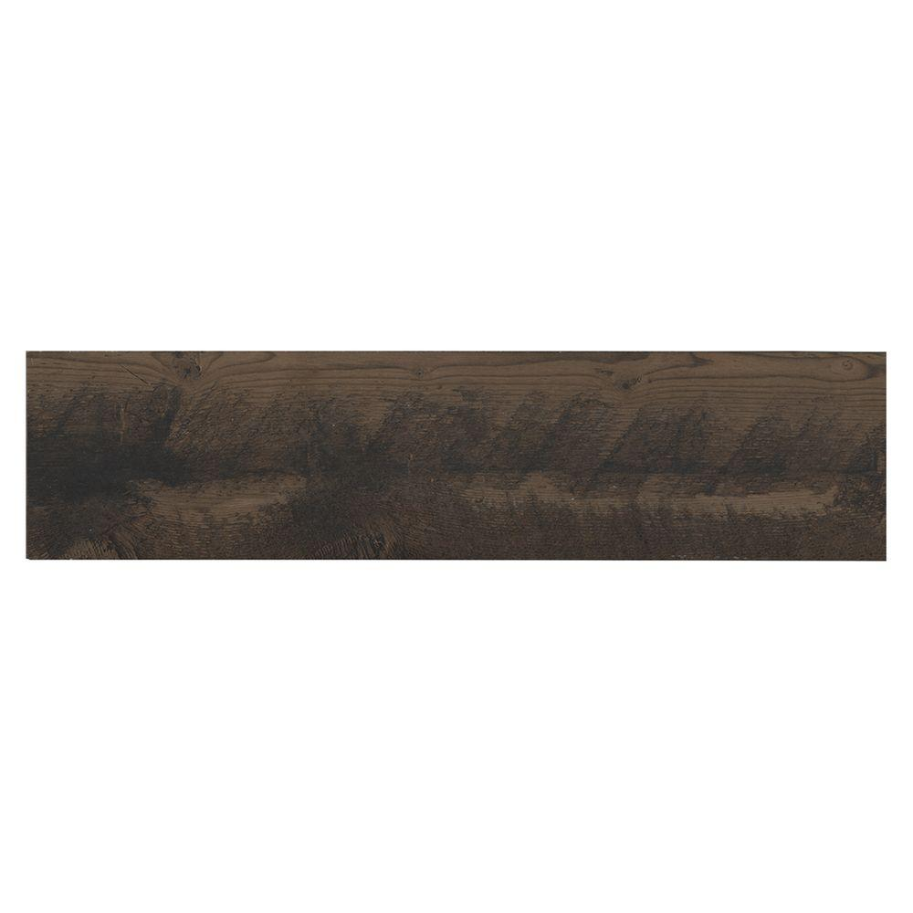 MARAZZI Montagna Wood Weathered Brown 6 in. x 24 in. Porcelain Floor and Wall Tile (14.53 sq. ft. / case)