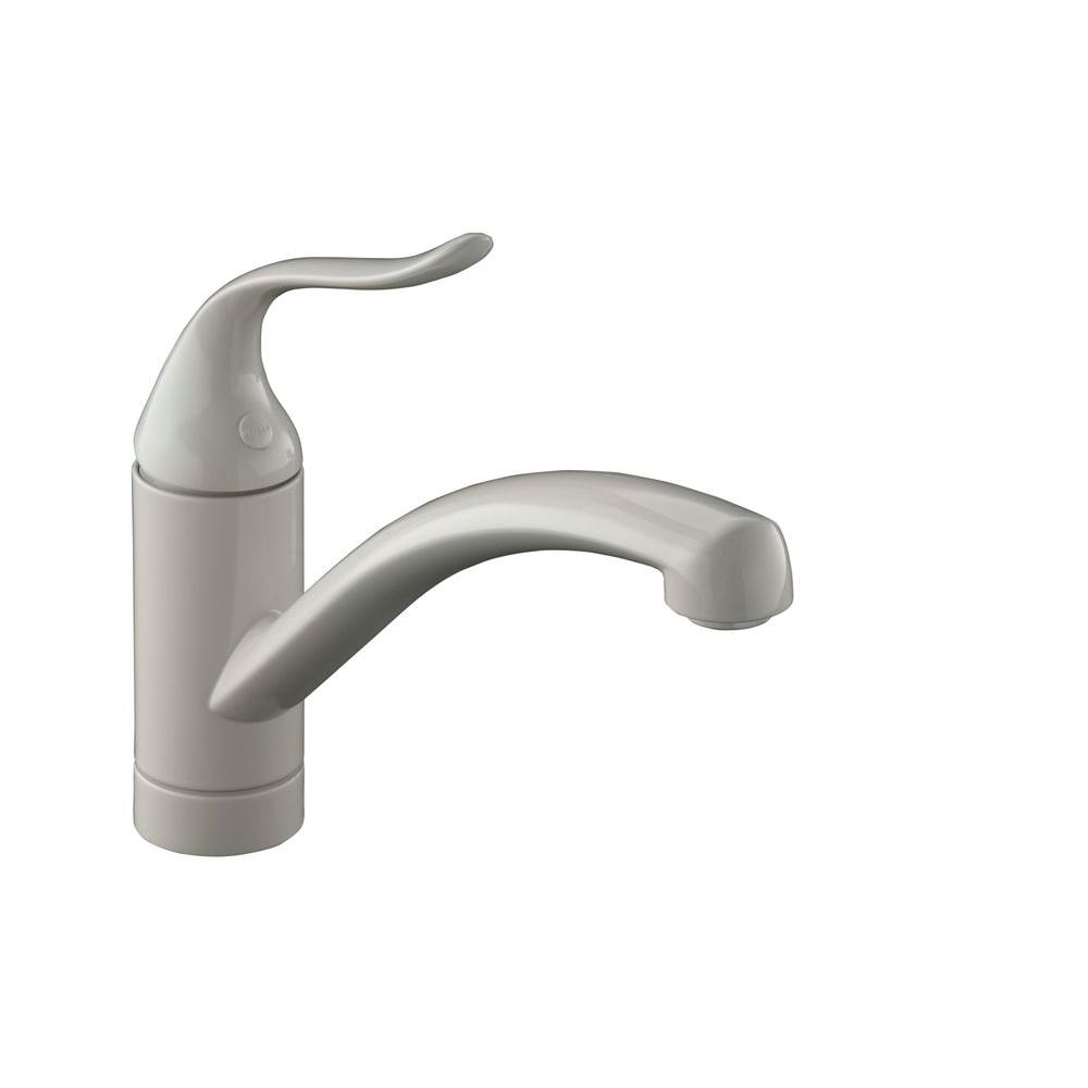 Coralais 1-Hole Decorator Single Handle Kitchen Faucet in Biscuit