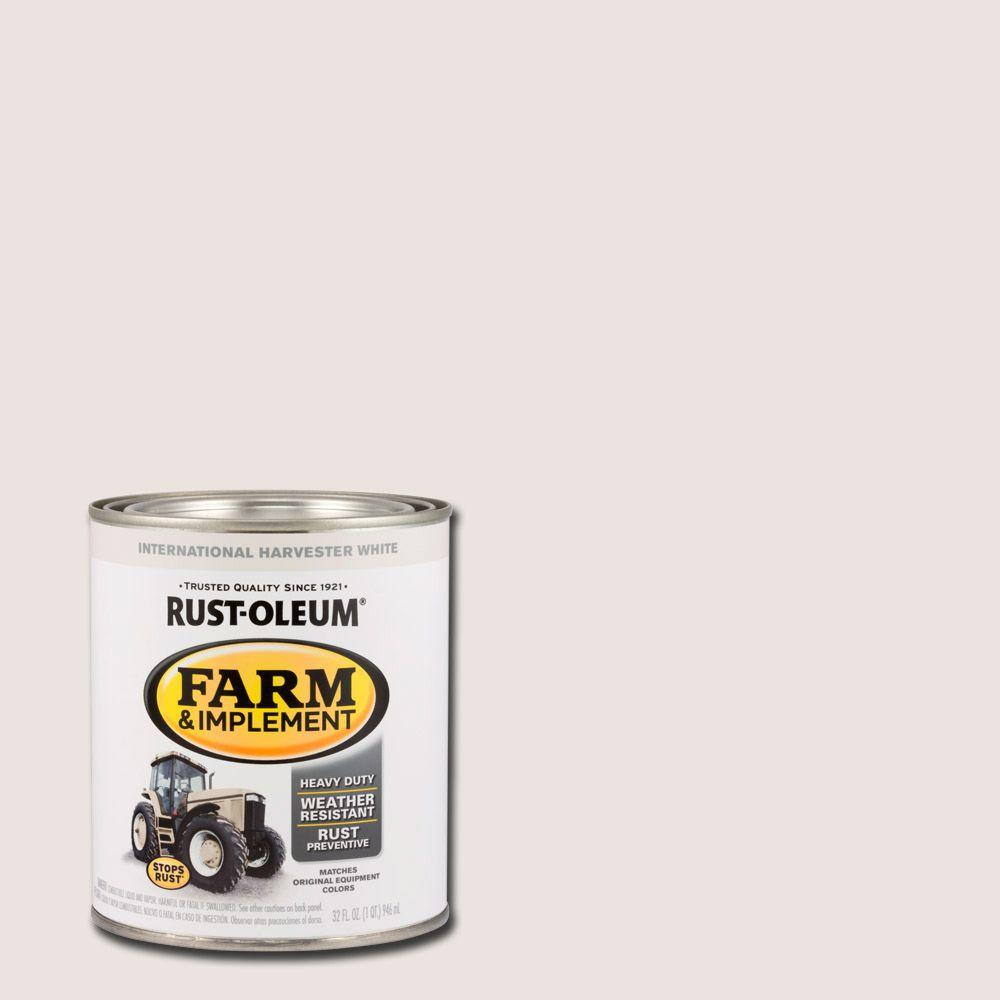1-qt. Farm and Implement International Harvester White Paint (Case of 2)