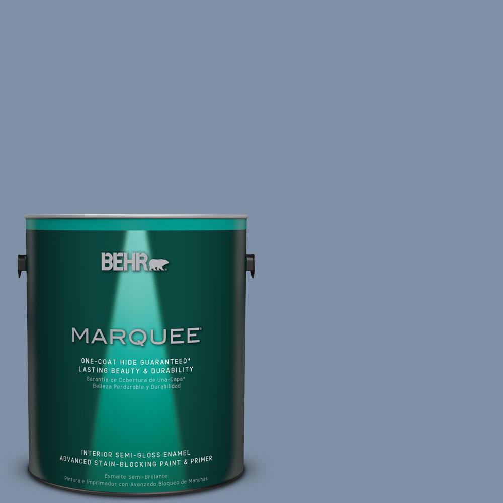 BEHR MARQUEE 1 gal. #MQ5-16 Montage One-Coat Hide Semi-Gloss Enamel Interior