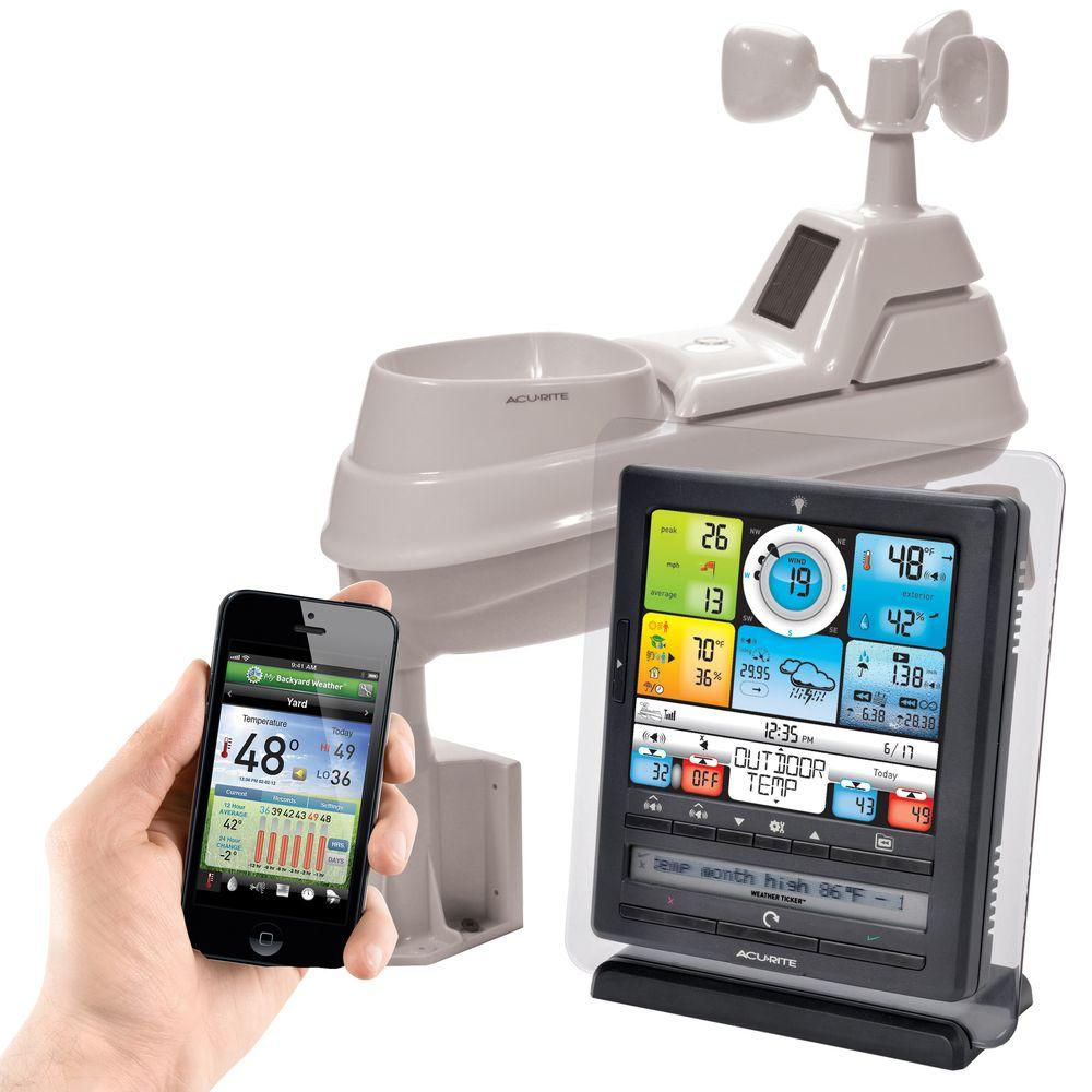 AcuRite Weather Gauges & Instruments Wireless Weather Station Pro with PC Connect 01036