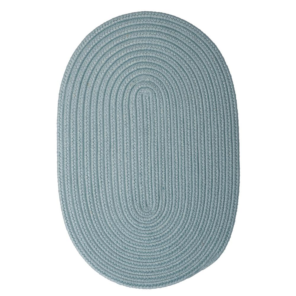 Trends Federal Blue 3 ft. x 5 ft. Braided Oval Area