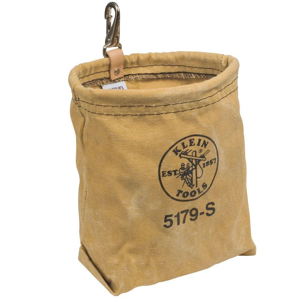 Klein Tools Water-Repellant Canvas Pouch - Snap-5179S - The Home Depot