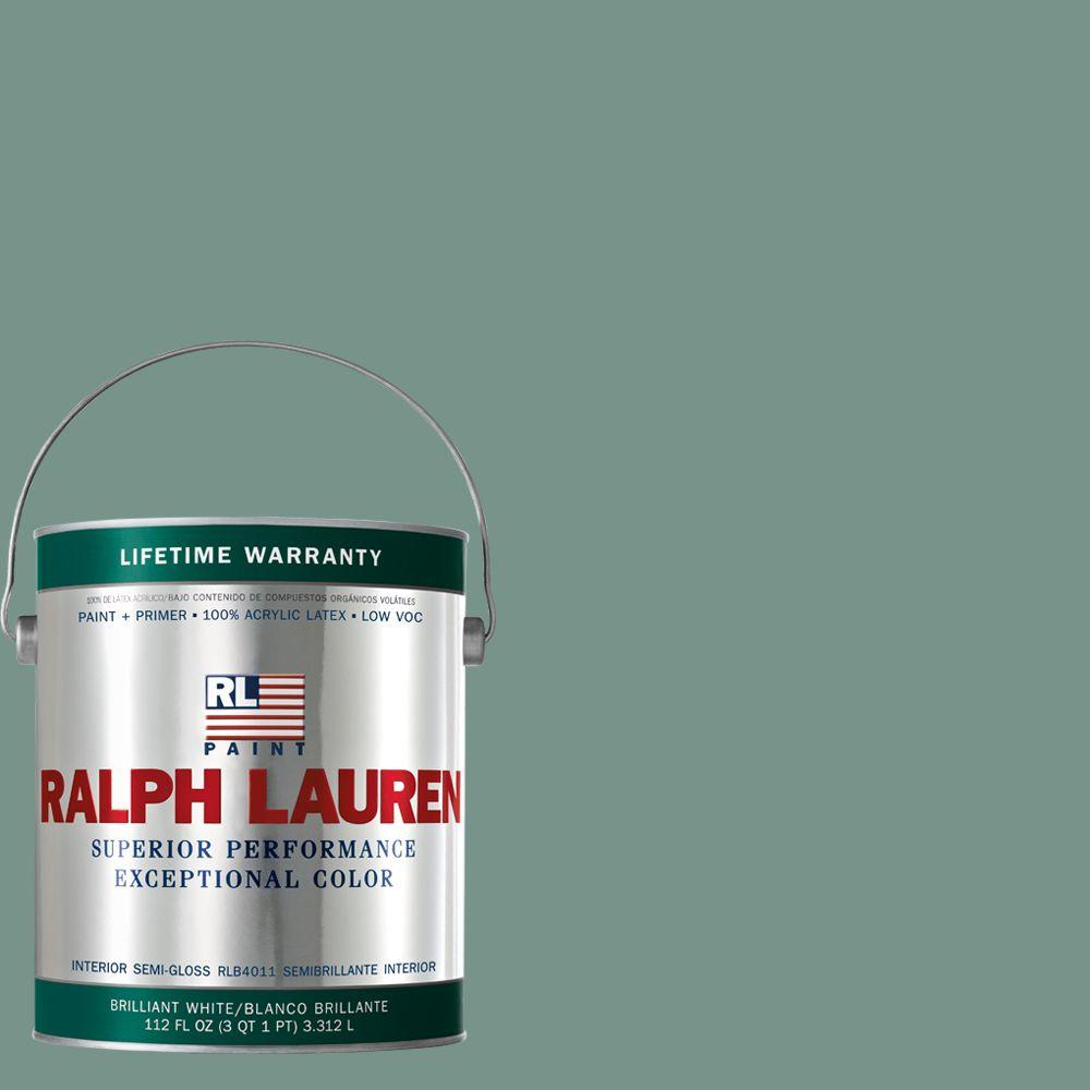 Ralph Lauren 1-gal. Volute Green Semi-Gloss Interior Paint-RL1729S - The Home