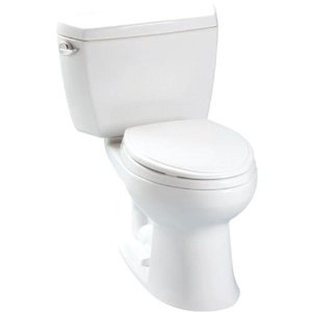 Toto Drake 2-Piece 1.28 GPF Single Flush Elongated Toilet in Cotton
