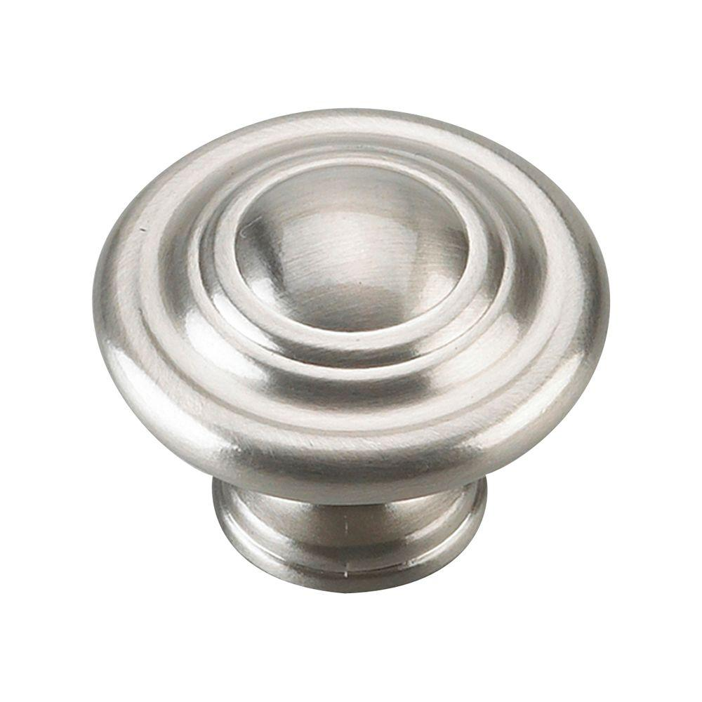 Traditional 1-3/4 in. Satin Nickel Oversized 3-Ring Knob