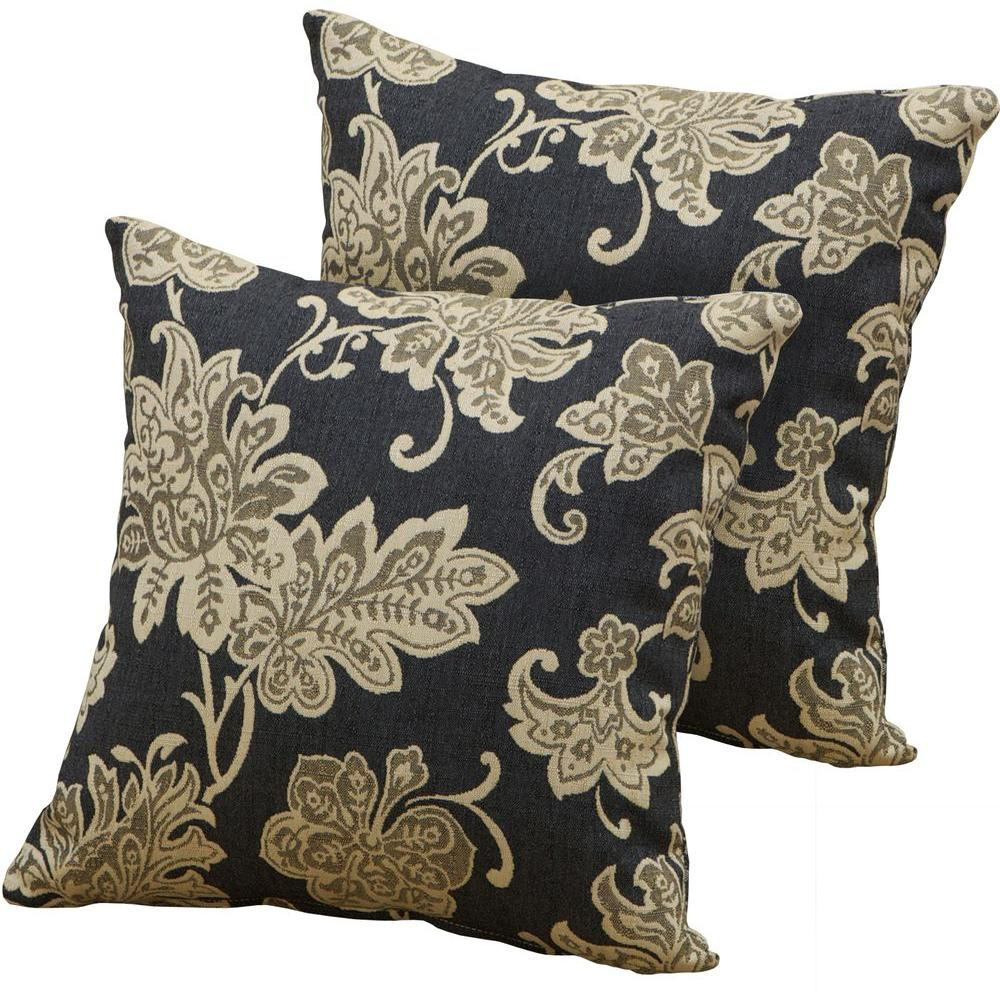 RST Brands Delano Jacquard Square Outdoor Throw Pillow (2-Pack)