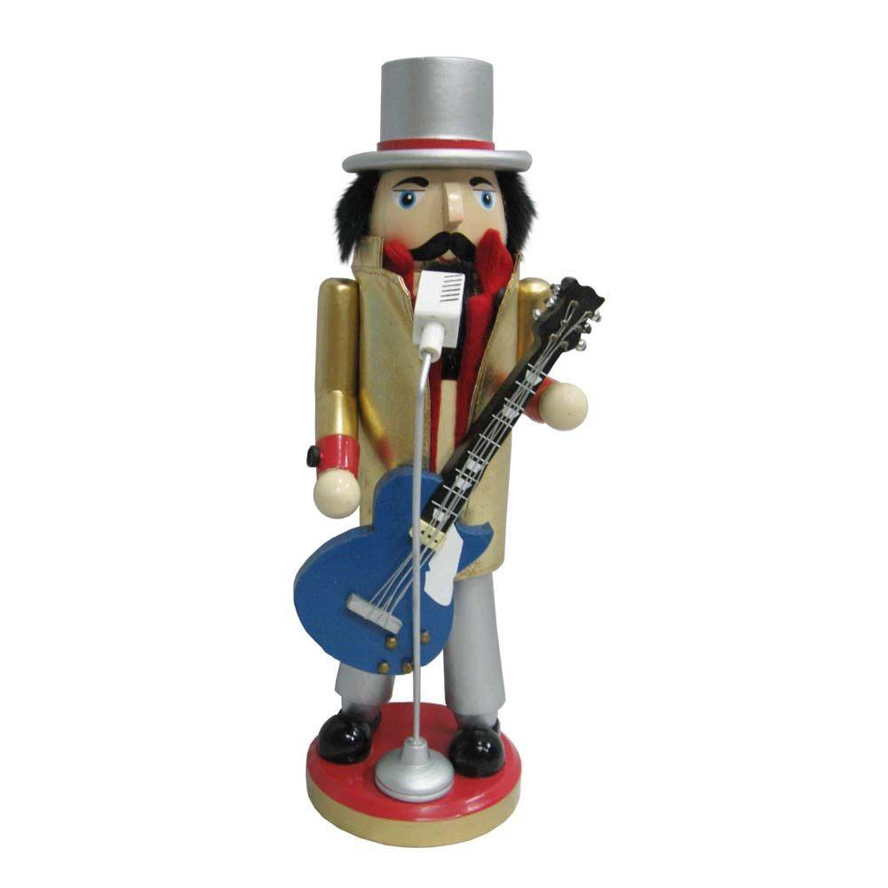 null 12.5 in. Guitar Playing Nutcracker