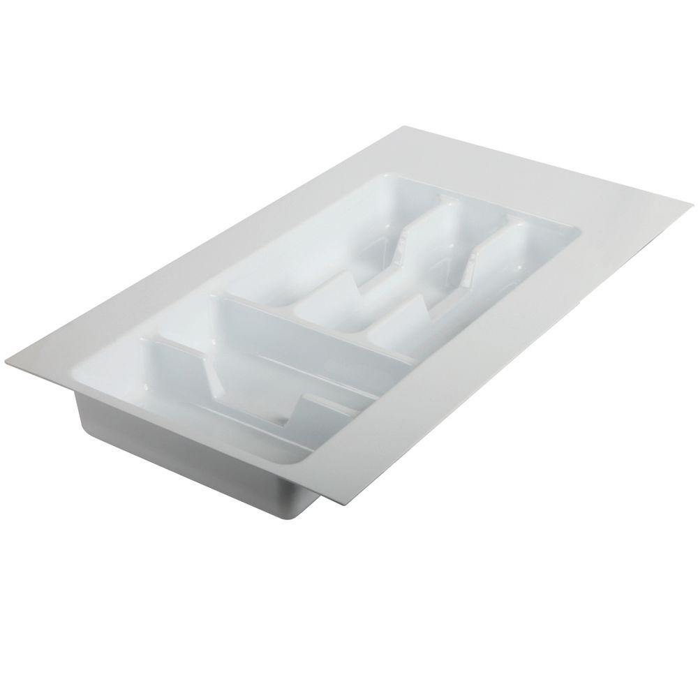 Knape & Vogt 2.19 in. x 11.75 in. x 21 in. Single Tiered Tableware Drawer Organizer