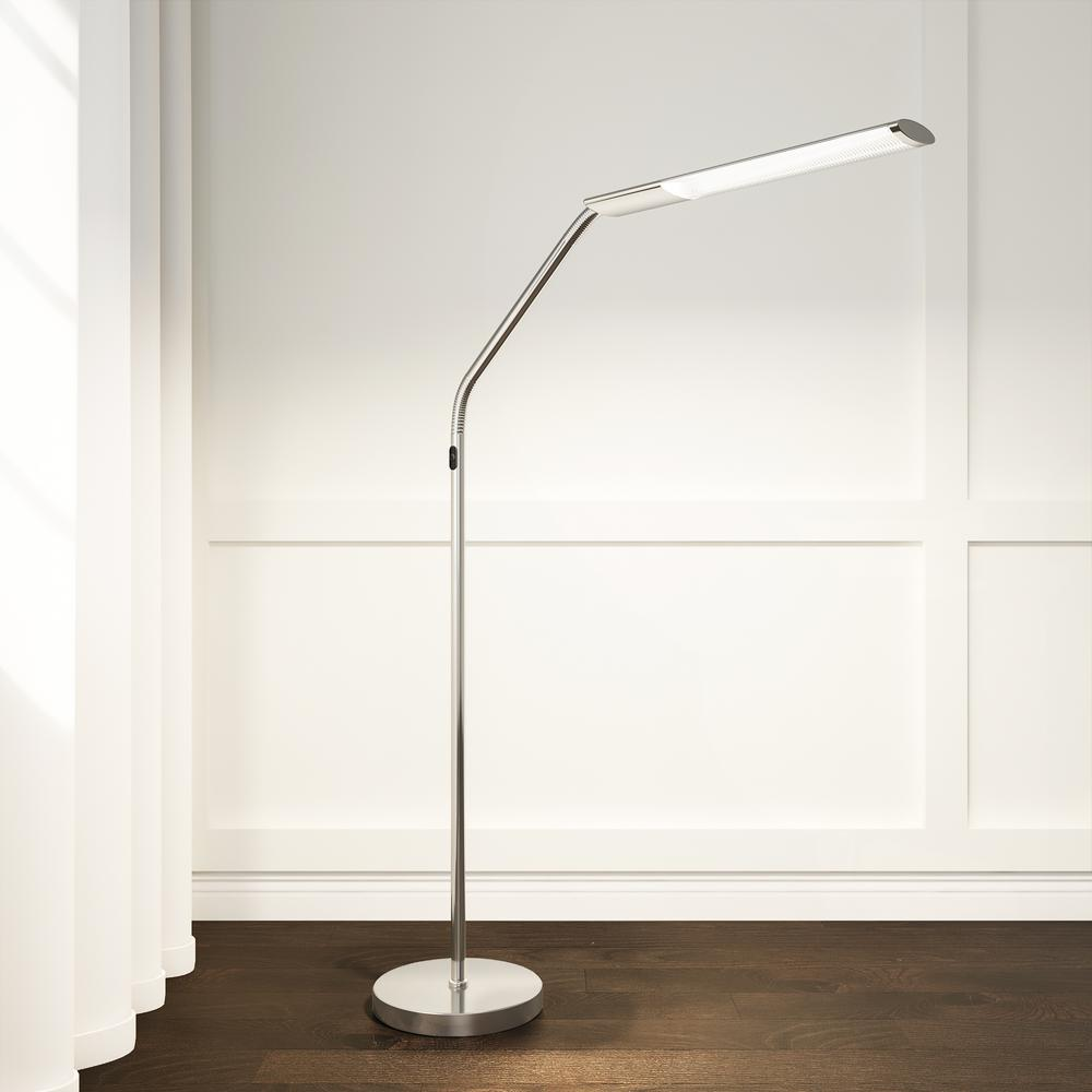Slimline S 48 In Brushed Chrome Led Floor Lamp U35116