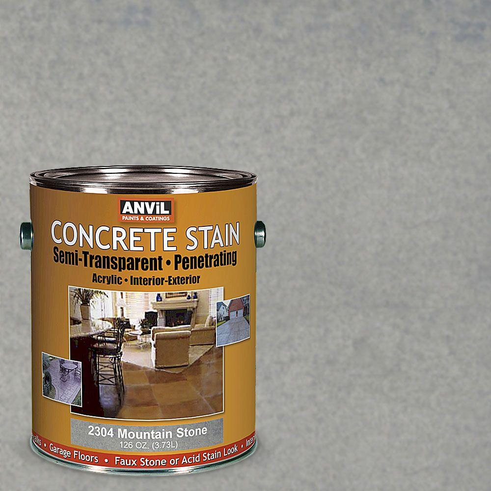 ANViL 1-gal. Mountain Stone Semi-Transparent/Translucent Concrete Stain-230401 -