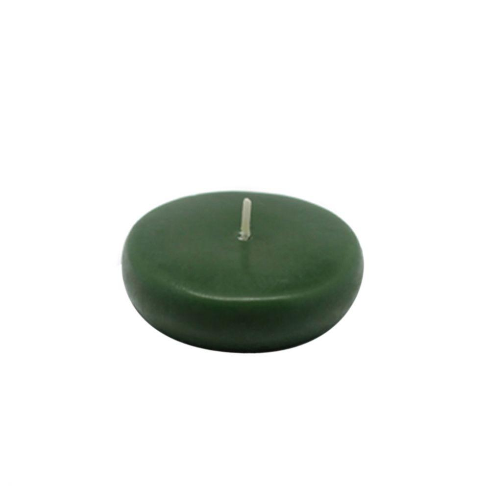 2.25 in. Hunter Green Floating Candles (Box of 24)