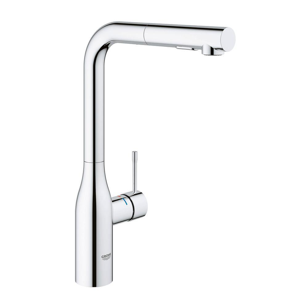 GROHE Essence New Single Hole Single-Handle Bathroom Faucet with Dual Spray