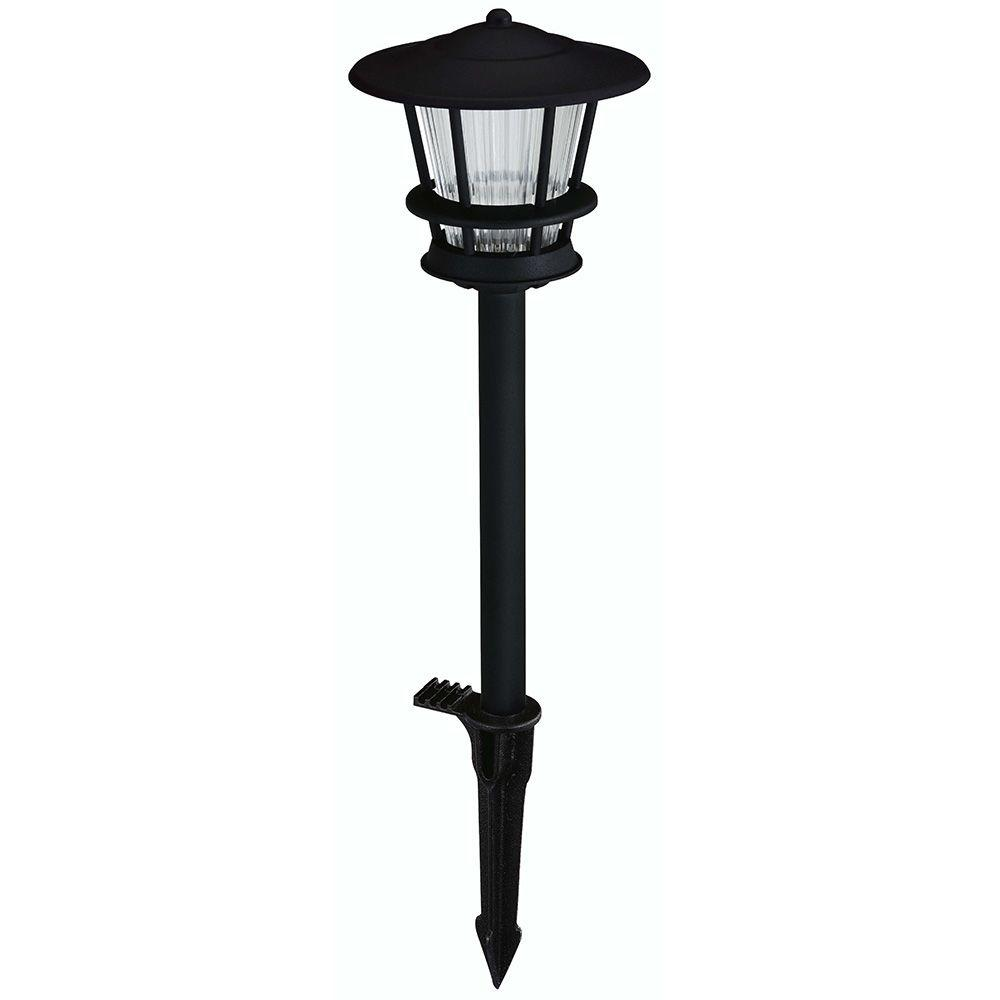 Landscape Lights For House: Hampton Bay Low-Voltage LED Black Outdoor 2-Tier Path