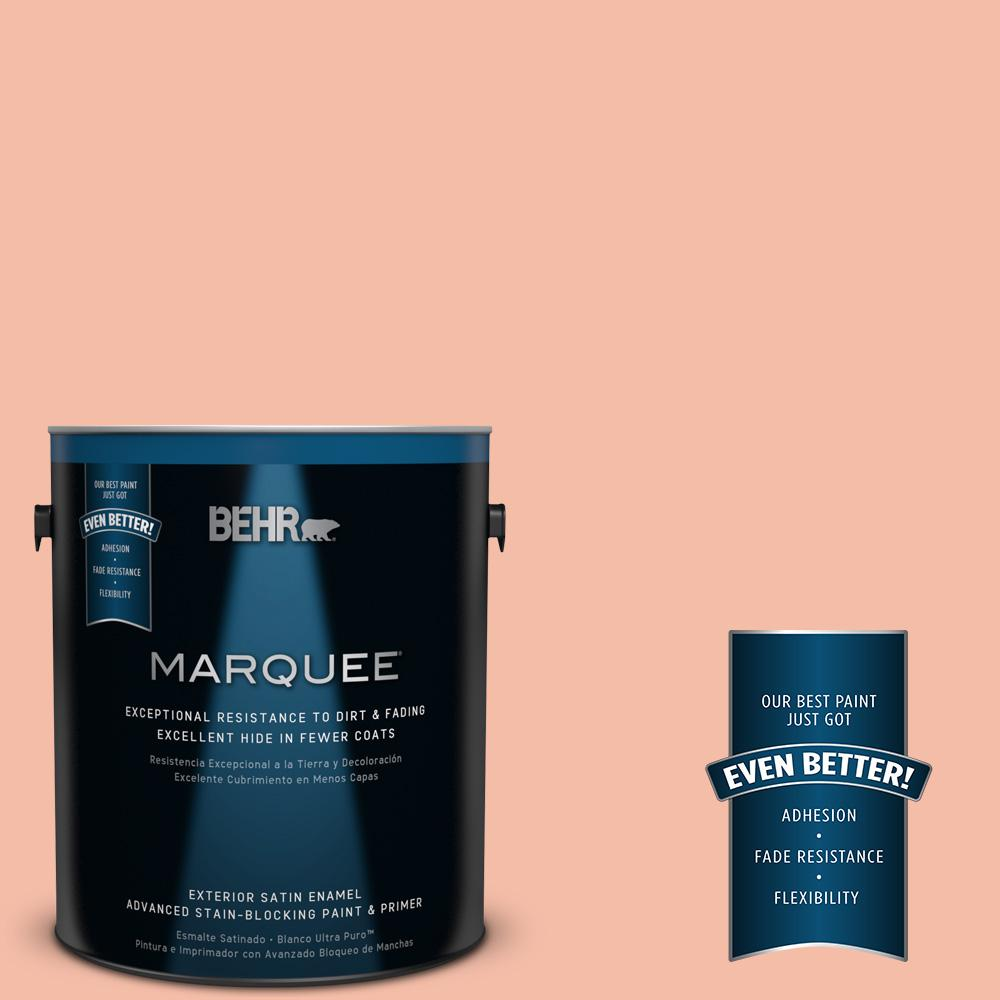 BEHR MARQUEE 1-gal. #HDC-SP14-4 Heirloom Apricot Satin Enamel Exterior Paint