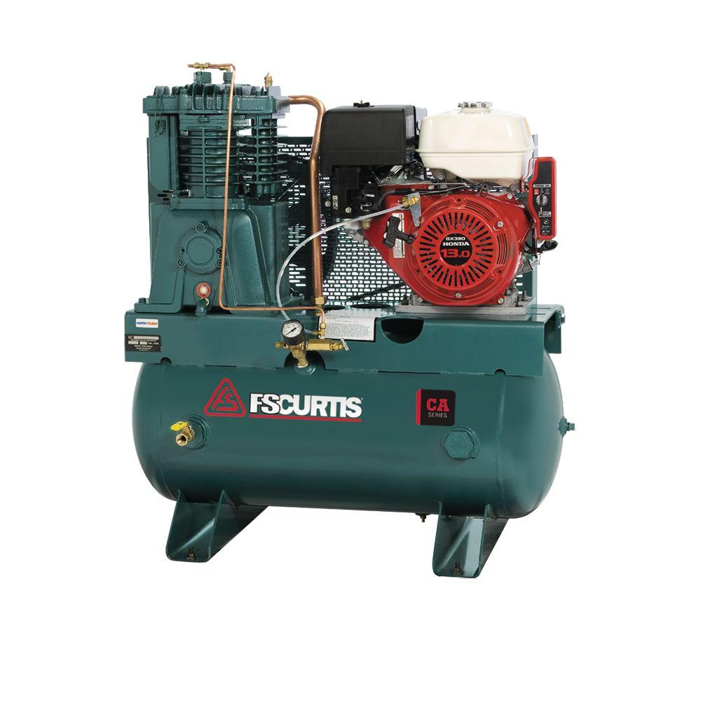 FS-Curtis 30 Gal. 13 HP Horizontal Gas Air Compressor-FCAHEE57H3X-AXL1XX - The