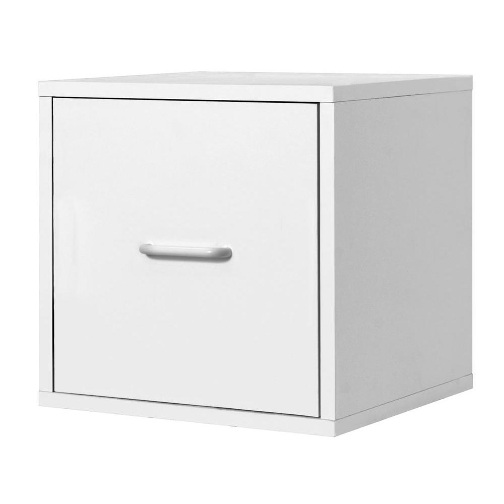 15 in. White File Cube