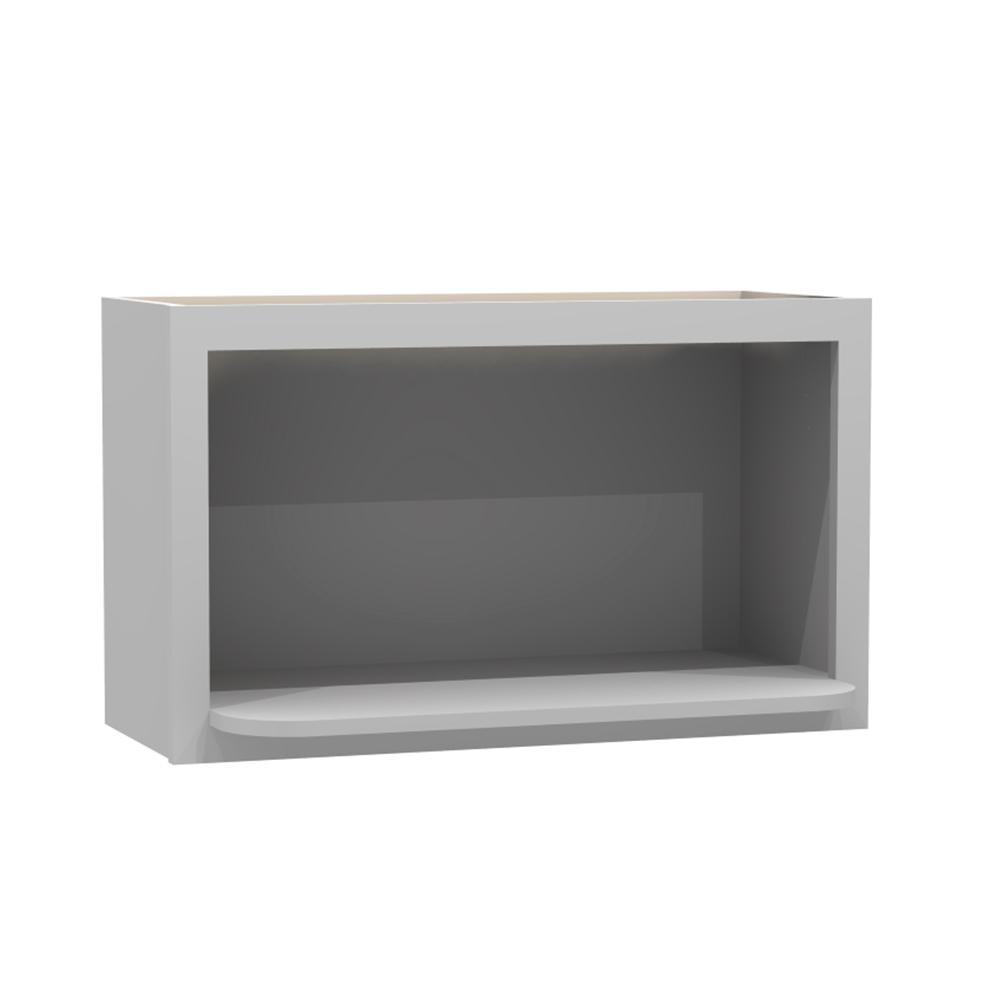 Kitchen Cabinet Microwave Shelf: Home Decorators Collection 30x18x18 In. Tremont Assembled Microwave Shelf Cabinet In Pearl Gray