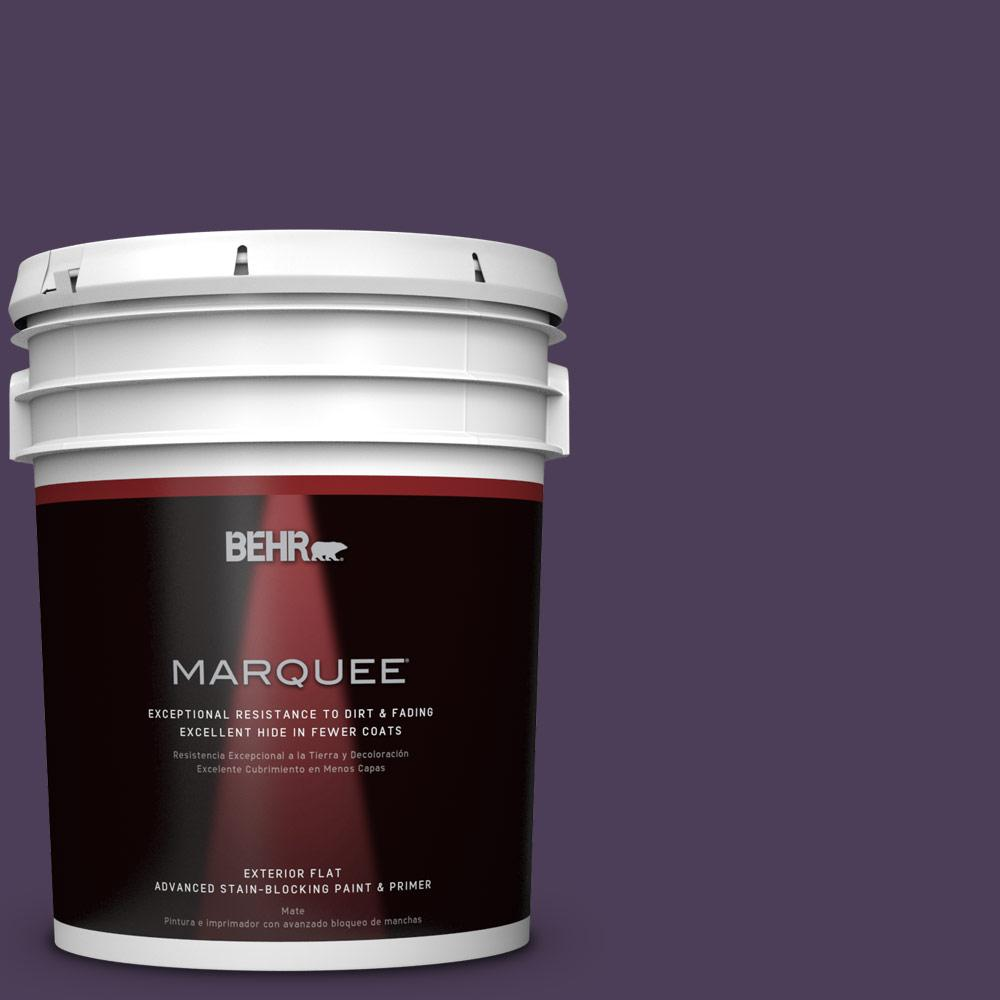 BEHR MARQUEE 5-gal. #S-H-660 Blackberry Harvest Flat Exterior Paint
