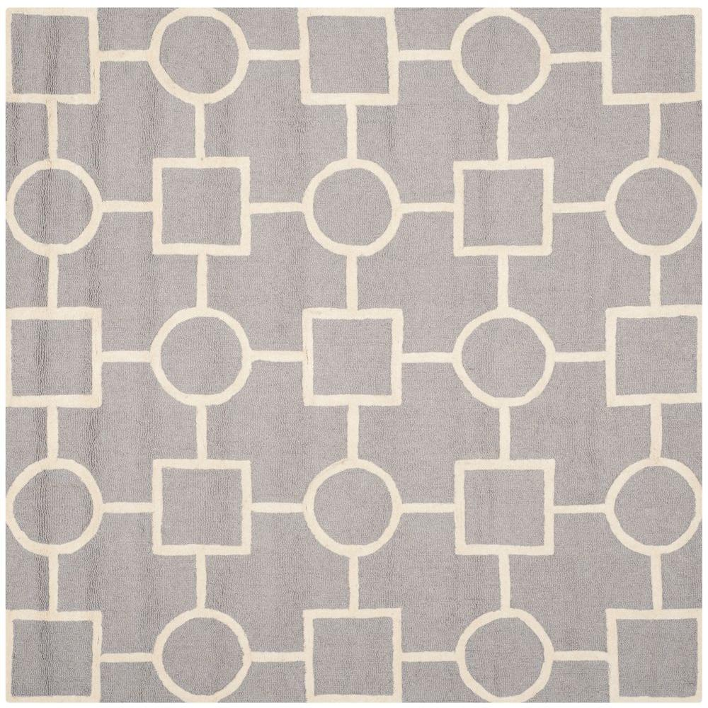 Safavieh Cambridge Silver/Ivory 6 ft. x 6 ft. Square Area Rug-CAM143D-6SQ