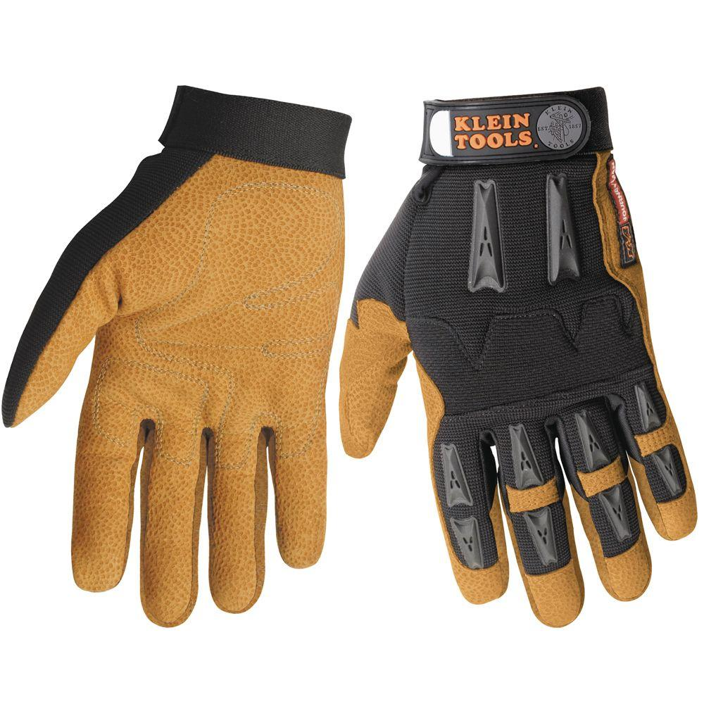 Klein Tools Journeyman Leather Large Work Gloves-DISCONTINUED
