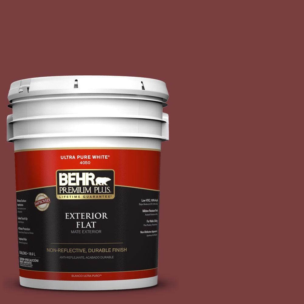 5-gal. #S-H-140 Cinnamon Cherry Flat Exterior Paint