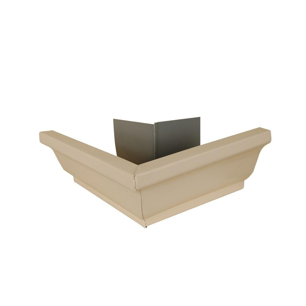 Amerimax Home Products 5 in. Light Maple Aluminum Outside Miter Box