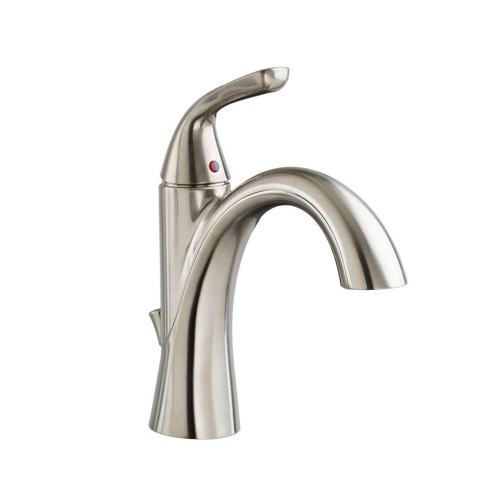 American Standard Fluent Single Hole Single-Handle Bathroom Faucet in Satin Nickel