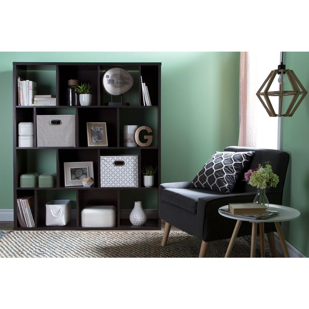 South Shore Reveal Chocolate (Brown) Open Bookcase