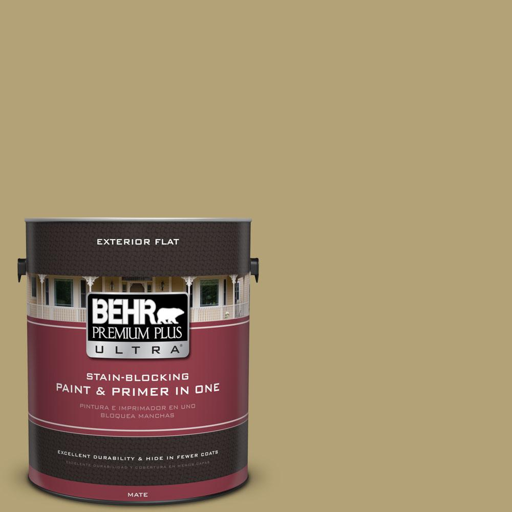 BEHR Premium Plus Ultra 1-gal. #PMD-101 Green Fig Flat Exterior Paint