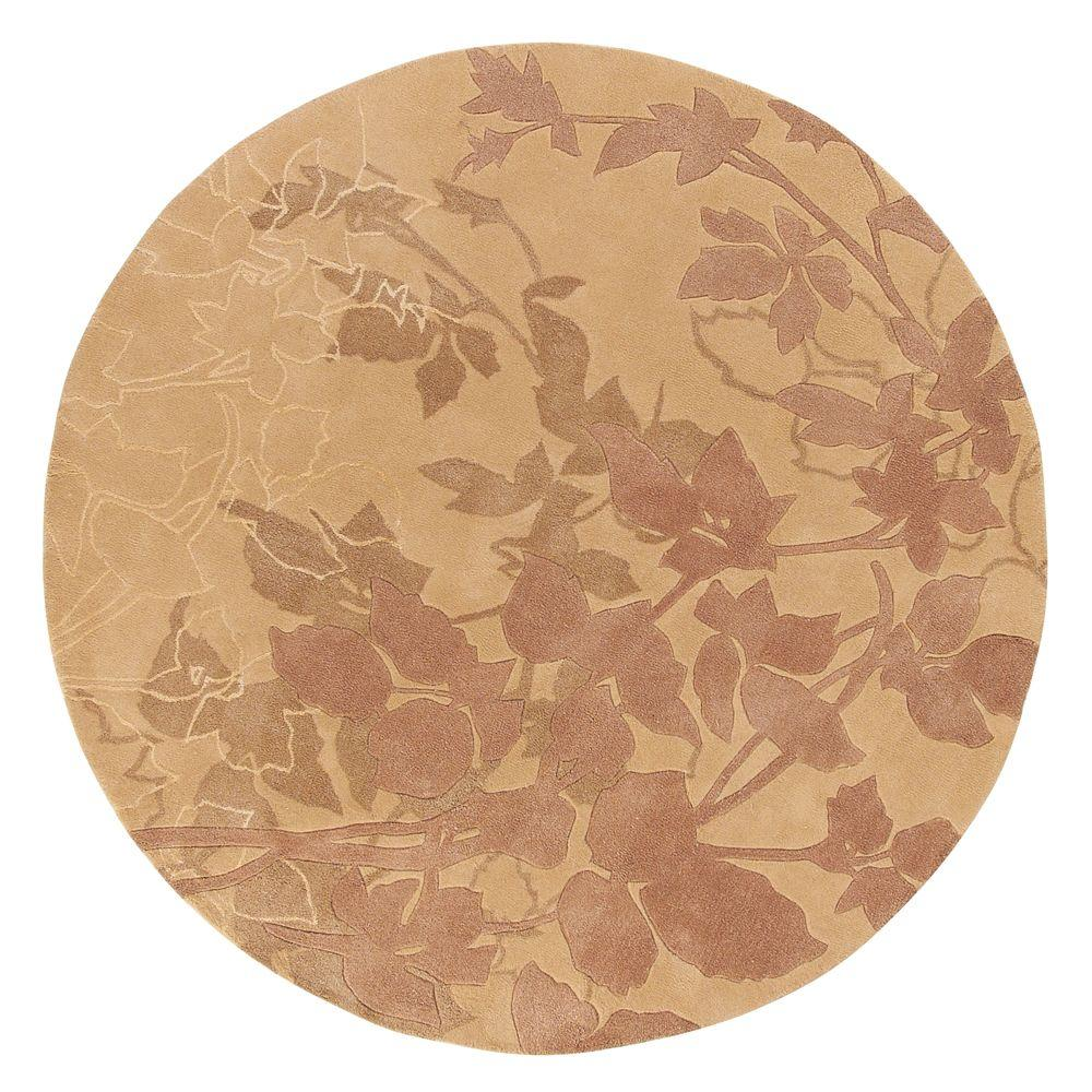 Home Decorators Collection Arcadian Beige 5 ft. 5 in. Round Area Rug