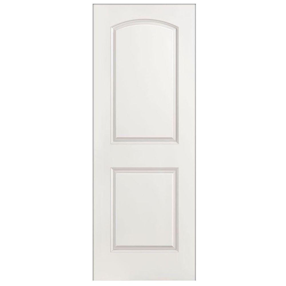 30 in. x 80 in. Roman Smooth 2-Panel Round Top Hollow