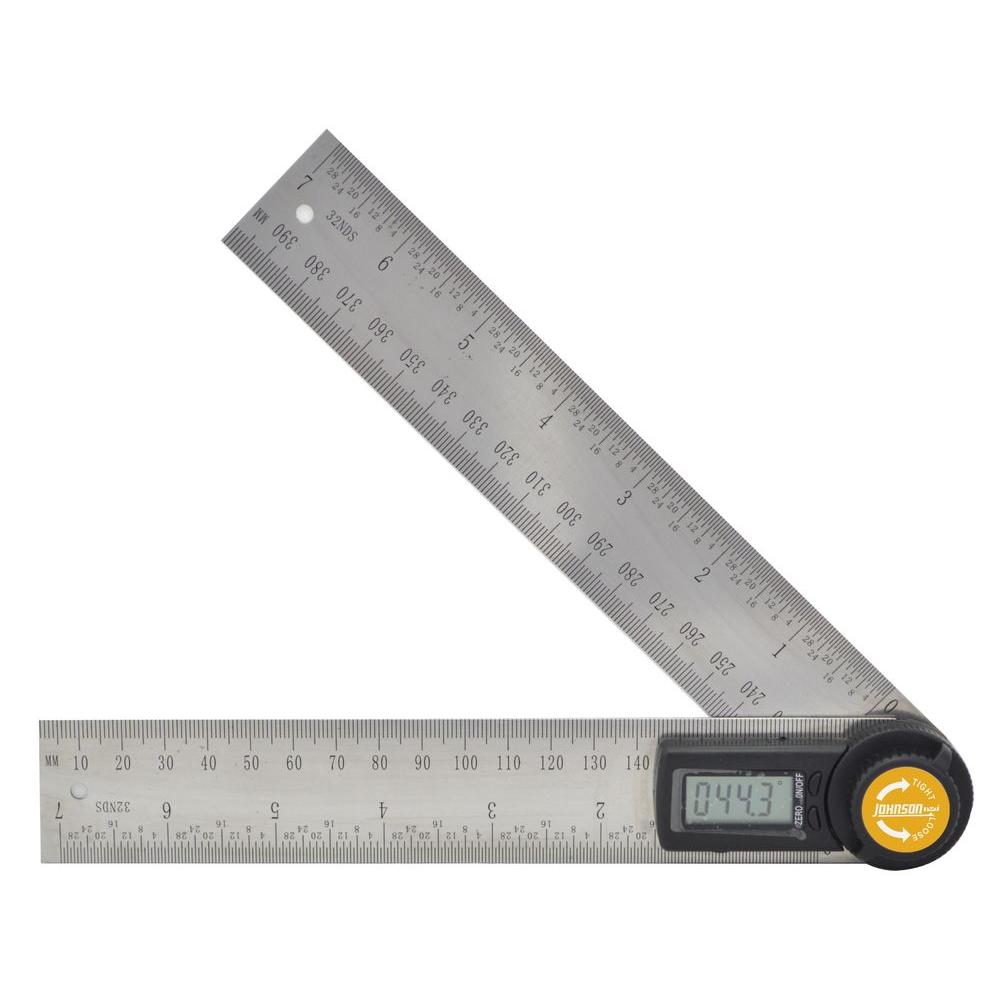 Johnson 7 in. Digital Angle Locator and Ruler