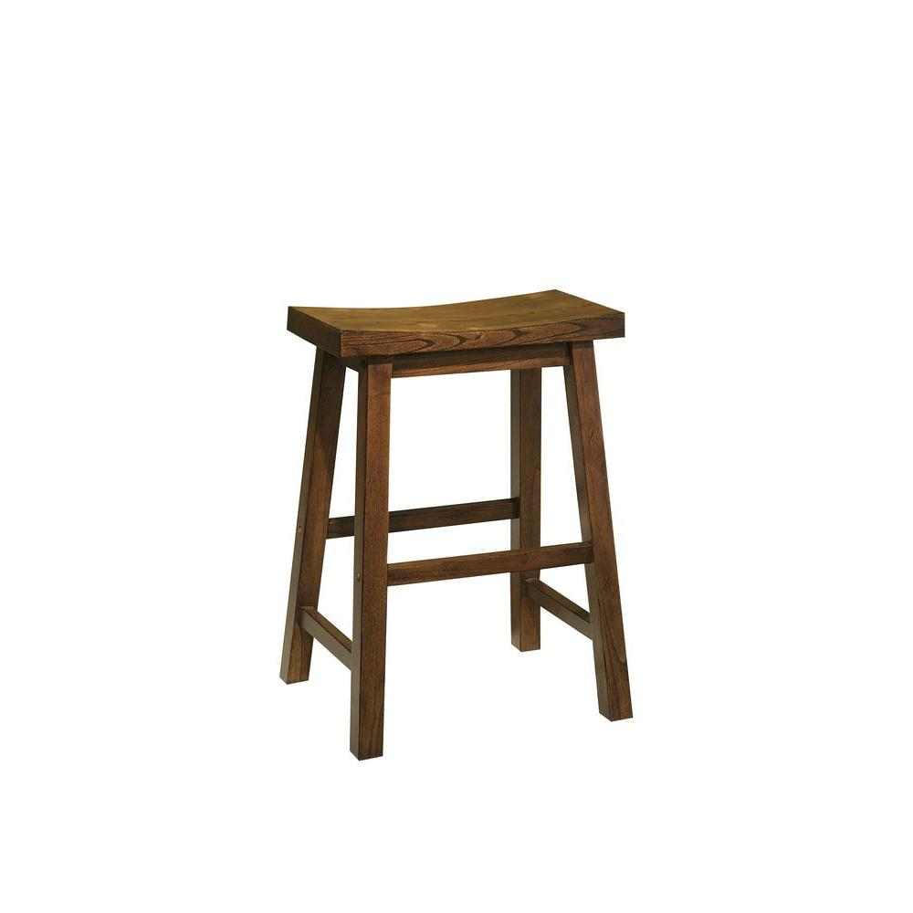 Powell 24 in honey brown bar stool 455 430 the home depot Home depot wood bar stools