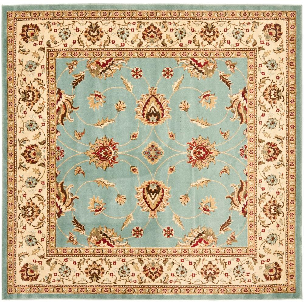 Lyndhurst Blue/Ivory 6 ft. 7 in. x 9 ft. 6 in. Area Rug