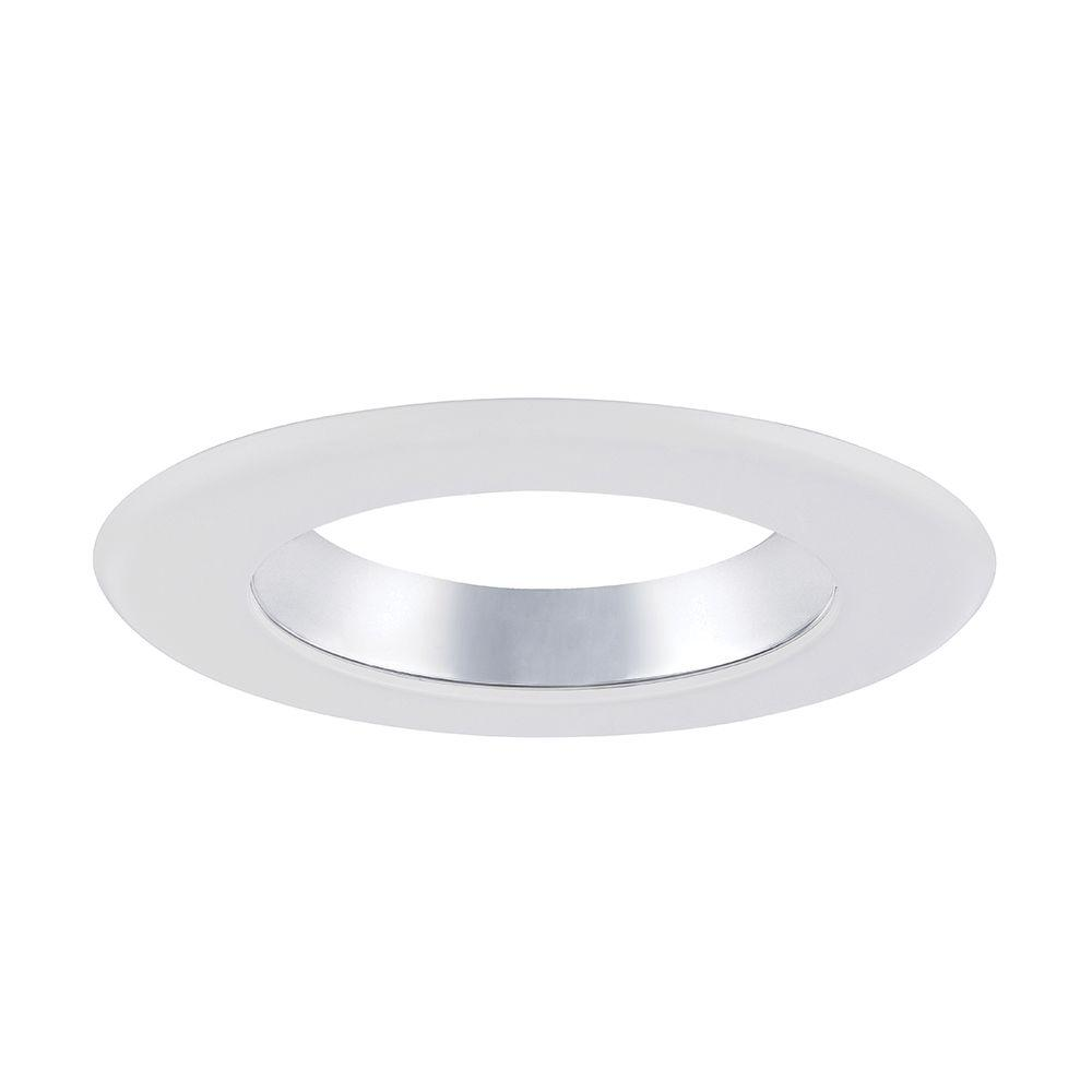 cone on white trim ring for led recessed light with magnetic trim ring. Black Bedroom Furniture Sets. Home Design Ideas
