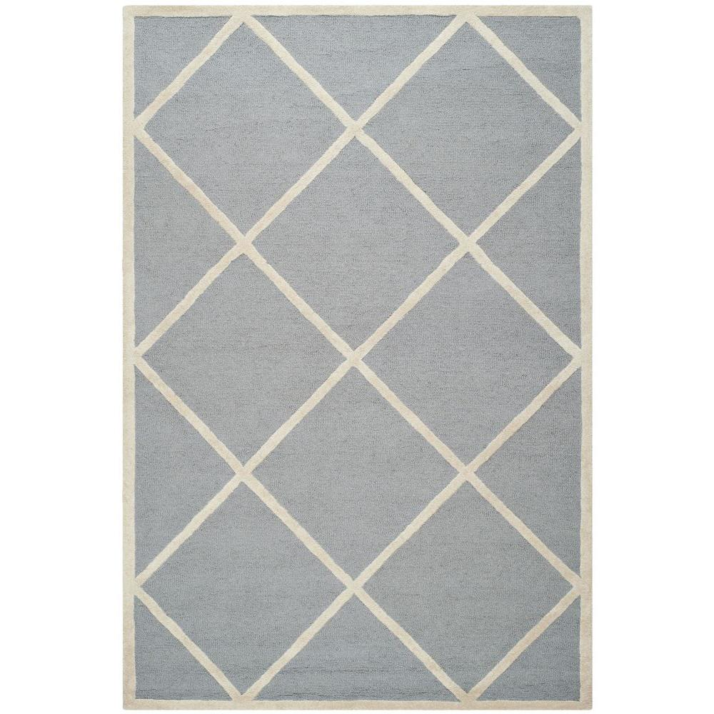 Safavieh Cambridge Silver/Ivory 6 ft. x 9 ft. Area Rug-CAM136D-6 -