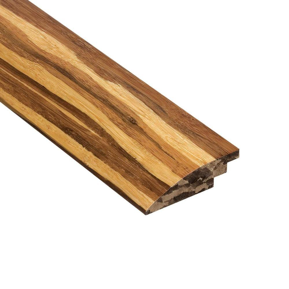 Home Legend Strand Woven Tiger Stripe 3/8 in. Thick x 2 in. Wide x 78 in. Length Bamboo Hard Surface Reducer Molding
